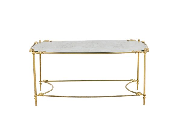 Gilt Brass Oxidized Mirror Coffee Table 1960s