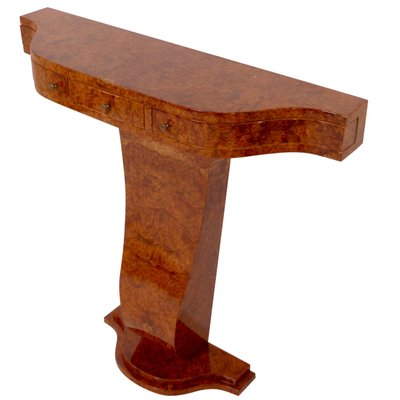 Amboina Burl Wood Console Table from ADM