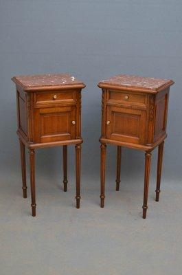 Antique Bedside Cabinets Set Of 2 For
