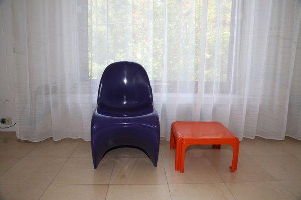 Surprising Purple Panton Chair By Verner Panton For Herman Miller 1970S Pdpeps Interior Chair Design Pdpepsorg