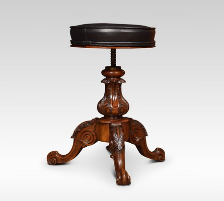 Surprising Antique Adjustable Walnut Piano Stool Theyellowbook Wood Chair Design Ideas Theyellowbookinfo