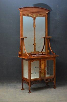 antike möbel schrank mit spiegel oval