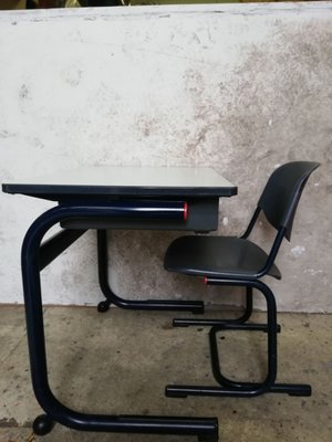 Industrial School Desk U0026 Chair Set By Helmut Starke For Marko, 1980s
