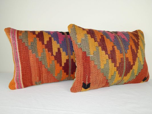 Incredible Wool Lumbar Kilim Pillow Covers From Vintage Pillow Store Contemporary Set Of 2 Ibusinesslaw Wood Chair Design Ideas Ibusinesslaworg
