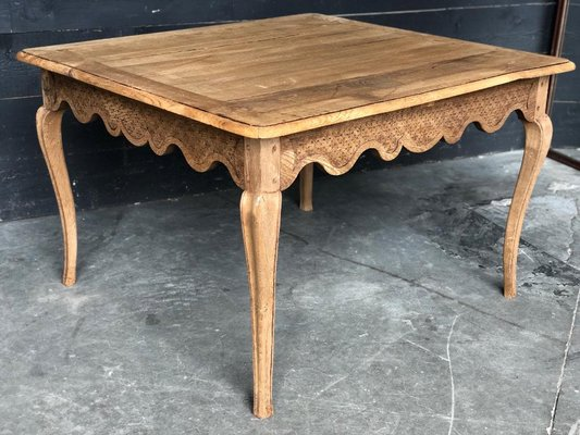 Antique French Bleached Oak Kitchen Dining Table