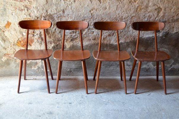 Wondrous Mid Century Bistro Style Dining Chairs From Hiller 1950S Set Of 4 Ibusinesslaw Wood Chair Design Ideas Ibusinesslaworg