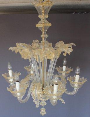Pleasing Mid Century White And Gold Murano Chandelier 1950S Spiritservingveterans Wood Chair Design Ideas Spiritservingveteransorg
