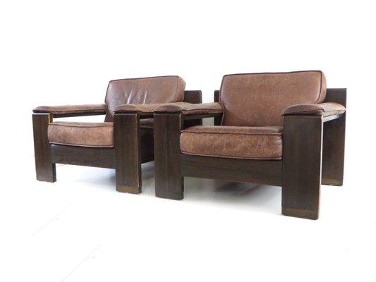 Strange Vintage Leather Chairs From Leolux Set Of 2 Creativecarmelina Interior Chair Design Creativecarmelinacom