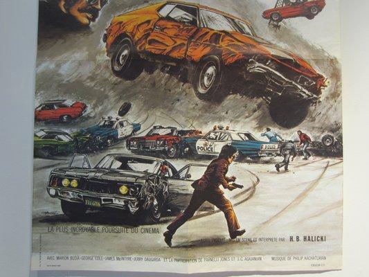 La Grande Casse (Gone In 60 Seconds) Film Poster, 1974
