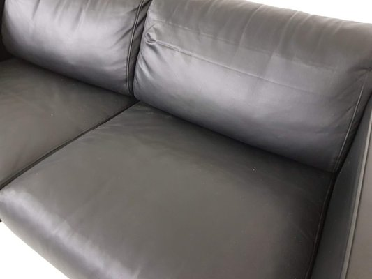 Black Leather Two Seater Sofa By Walter Knoll For Walter Knoll