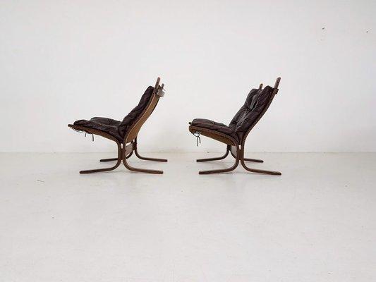 Set Ingmar Siesta Westnofa1960er2er Relling Norwegische Leder Stühle aus für von D9E2YIWH
