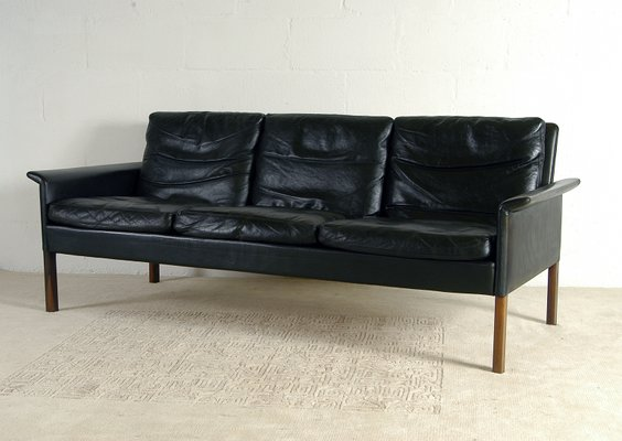 Danish Leather and Rosewood CS500 3-Seat Sofa by Hans Olsen for CS  Mobelfabrik, 1960s