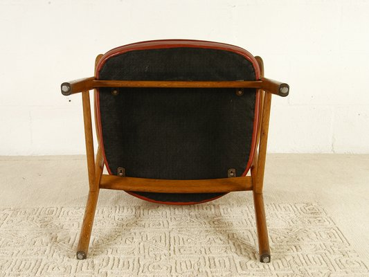 Danish Modern Model 53 Oak and Leather Desk Chair by Erik Kirkegaard for  Høng Stolefabrik, 1960s