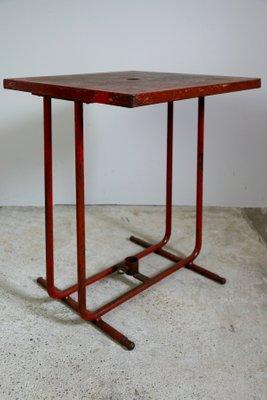 Table de Bistrot en Métal et Fer Forgé de Tolix, France, 1950s