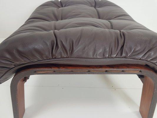 Remarkable Danish Plywood Padded Leather Rope Ottoman 1960S Inzonedesignstudio Interior Chair Design Inzonedesignstudiocom