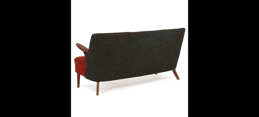 Astonishing Black Red 2 Seater Sofa 1950S Machost Co Dining Chair Design Ideas Machostcouk