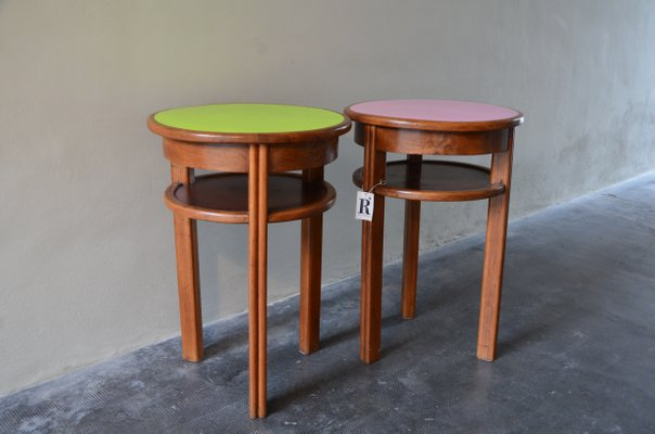 Mid Century Small Bistro Tables 1950s