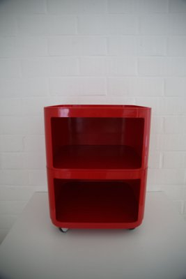 Castelli Table Rouge Modulaire Anna Ferrieri Samoes1960s Chevet de par pour Iv67Ygbfy