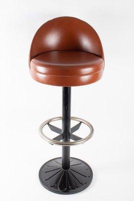 Brilliant Vintage Steel Cast Iron And Leather Bar Stools 1920S Set Of 3 Creativecarmelina Interior Chair Design Creativecarmelinacom