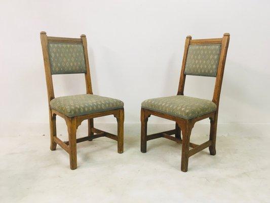 Antike Stühle aus Eiche von Howard and Sons, 5er Set