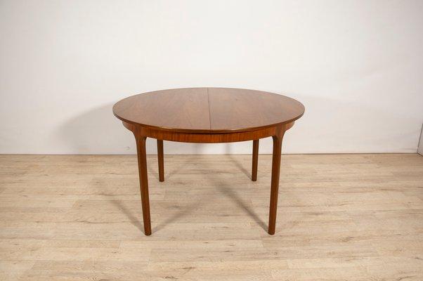 Mesa de comedor extensible redonda de McIntosh, años 60