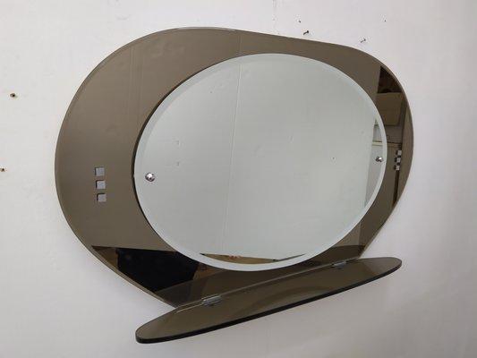 Vendita Specchi Da Bagno.Specchio Da Bagno Mid Century Moderno Con Cornice In Vetro Tinto
