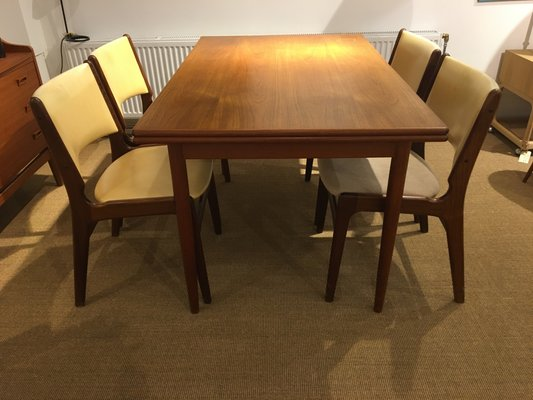 Admirable Vintage Teak Dining Table And 4 Dining Chairs By Henning Kjaernulf For Boltings Stolefabrik 1960S Set Of 5 Squirreltailoven Fun Painted Chair Ideas Images Squirreltailovenorg