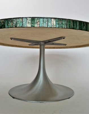 Coffee Table With.Tulip Coffee Table With Glass Mosaic By Heinz Lilienthal 1960s