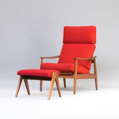 Sensational Easy Chair Footrest Set By Arne Vodder For France Son 1960S Machost Co Dining Chair Design Ideas Machostcouk