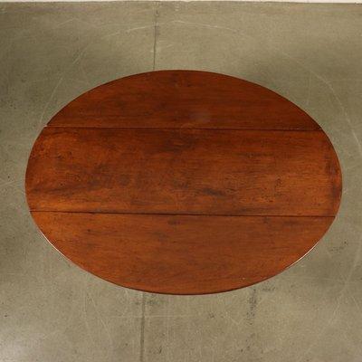 Antique Italian Walnut Drop Leaf Dining Table