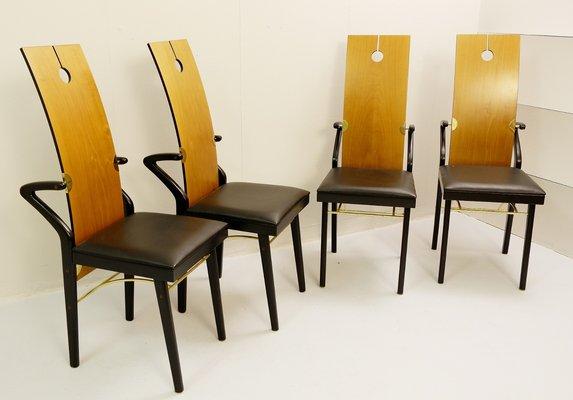 Tavolo da pranzo con quattro sedie di Pierre Cardin, 1974