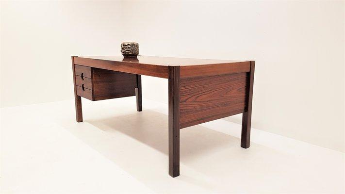 Vintage Rosewood Executive Desk From Christian Linneberg, 1960s
