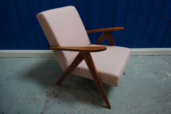Fantastic Mid Century Model B 310 Light Pink Tweed Modern Easy Chair 1960S Dailytribune Chair Design For Home Dailytribuneorg