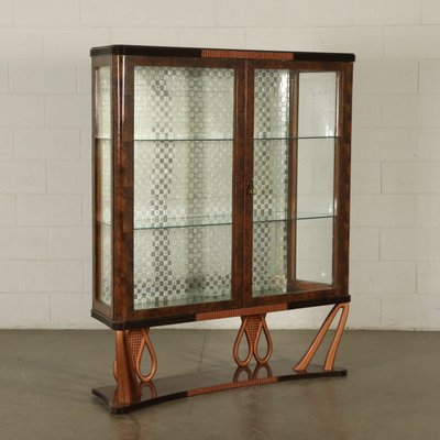 Vintage Italian Rosewood Glass Cabinet 1940s For Sale At Pamono
