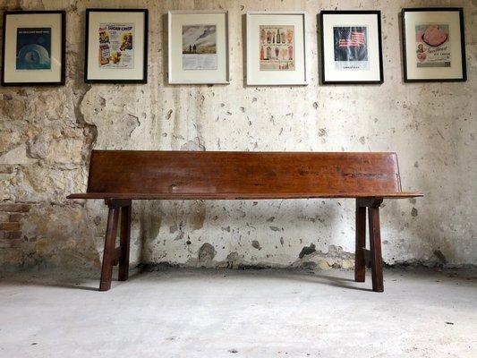 Incredible Vintage Italian Rustic Walnut Wooden Bench 1920S Ibusinesslaw Wood Chair Design Ideas Ibusinesslaworg
