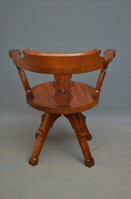 Wondrous Antique Victorian Mahogany Office Chair Download Free Architecture Designs Embacsunscenecom