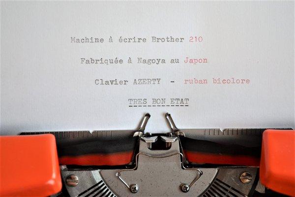 Orange 210 Typewriter from Brother, 1970s