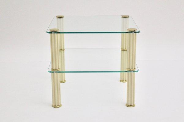 Tavolino Due Ripiani.Tavolino A Due Ripiani Vintage In Ceramica Di Paf