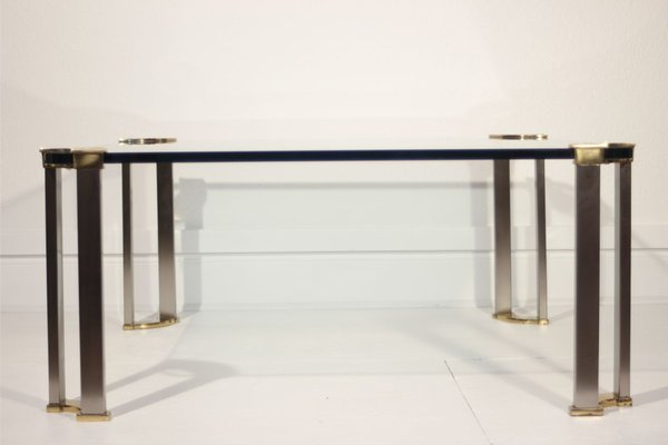Glass Table Coffee Table.Bronze And Glass Coffee Table By Peter Ghyczy 1970s