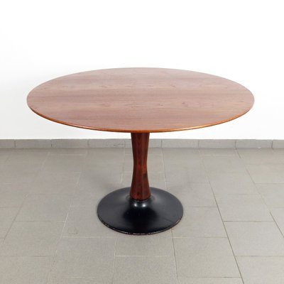 Coffee Table To Dining Table.Vintage Round Dining Table 1960s