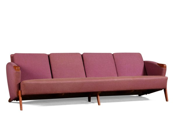 Pink & Red Sofa by Arne Hovmand-Olsen, 1960s