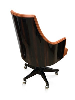 Orange Leather Office Chair From Adm