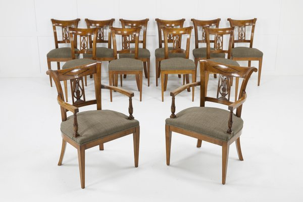 Awe Inspiring Antique Cherrywood Dining Chairs Set Of 12 Gmtry Best Dining Table And Chair Ideas Images Gmtryco