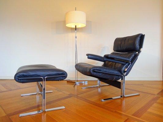 Remarkable Italian Modern Lounge Chair Ottoman By Richard Hersberger For Saporiti Italia 1970S Machost Co Dining Chair Design Ideas Machostcouk