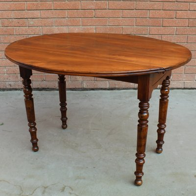 Antique Louis Philippe French Walnut Dining Table