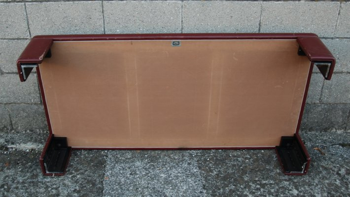 Italian Leather And Mirorred Glass Coffee Table By Luigi Massoni For Poltrona Frau 1970s For Sale At Pamono
