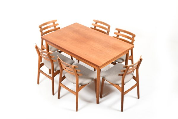 Mid Century Danish Dining Room Set By Poul M Volther For Fdb For Sale At Pamono