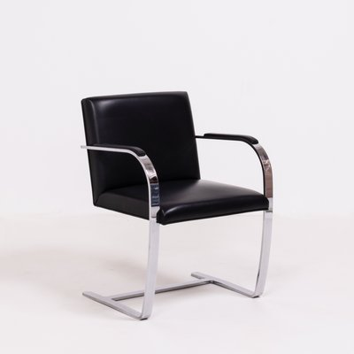 Design Mies Van Der Rohe.Vintage Black Brno Chairs By Mies Van Der Rohe For Knoll Set Of 4