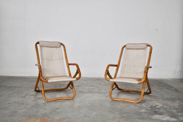 Astounding Italian Reclining Deck Chairs 1960S Set Of 2 Dailytribune Chair Design For Home Dailytribuneorg