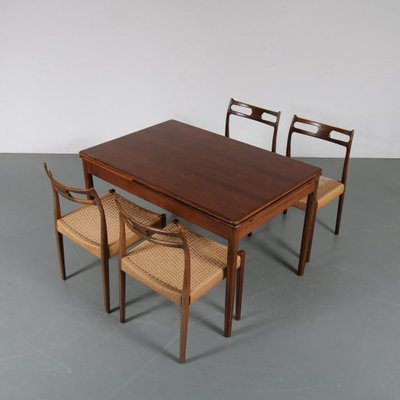 Pleasant Danish Beech Dining Table Chairs Set By Moller For J L Mollers 1960S Customarchery Wood Chair Design Ideas Customarcherynet